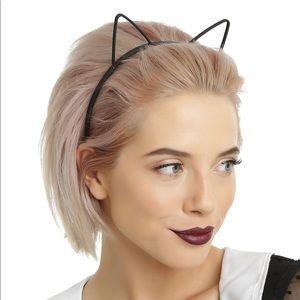 NEW✨ Black Kitty Cat Ears Outline Plastic Headband